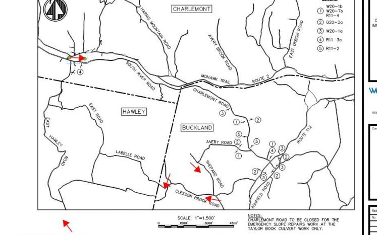 Charlemont Road Detour Map